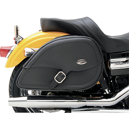 Saddlemen Teardrop Drifter Saddlebags With Shock Cutaway - 2003 Kawasaki Vulcan 500 LTD - EN500C Saddlemen Saddle Skins Seat Cover - Black
