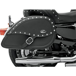 Saddlemen Teardrop Desperado Saddlebags With Shock Cutaway - Saddlemen Saddle Skins Seat Cover - Burgundy