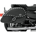 Saddlemen Teardrop Desperado Saddlebags With Shock Cutaway -  Cruiser Saddle Bags