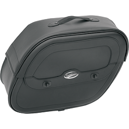 Saddlemen Cruis'N Slant Saddlebags With Shock Cutaway - Saddlemen Cruis'N Deluxe Sissy Bar Bag