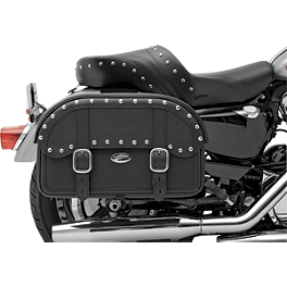 Saddlemen Desperado Straight Saddlebags - Throw Over - Saddlemen BR1800EXS Sissy Bar Bag With Studs