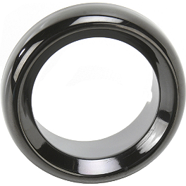 Saddlemen Standard Trim Ring For Bullet Lights - Rumble Concept Backdraft LED Turn Signals - Metallic Sonic Silver
