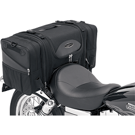 Saddlemen TS3200DE Deluxe Cruiser Tail Bag - Saddlemen BR1800EXS Sissy Bar Bag With Studs