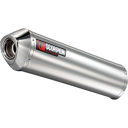 Scorpion Exhaust Tagma Slip-On Exhaust - Stainless Steel Single - Scorpion Exhaust Tagma Slip-On Exhaust - Titanium Single