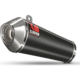 Scorpion Exhaust Power Cone Slip-On Exhaust - Carbon Fiber Single - Leo Vince SBK GP Style Evo II Low-Mount Slip-On - Stainless Steel Single Canister