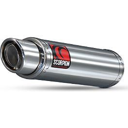 Scorpion Exhaust Stealth Slip-On Exhaust - Stainless Steel - Big Gun Evo Street Series Slip-On Exhaust