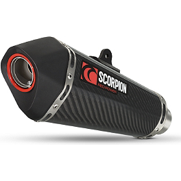 Scorpion Exhaust Serket Taper Slip-On Exhaust - Carbon Fiber - Scorpion Exhaust RP-1 GP Slip-On Exhaust - Titanium
