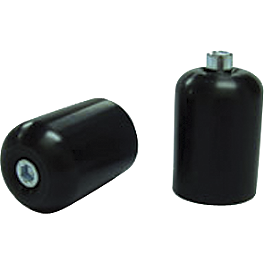 Shogun Motorsports Bar End Sliders - Black - Shogun Motorsports Bar End Sliders - Polished