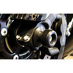 Shogun Motorsports Front Axle Sliders - Black - Shogun Motorsports Motorcycle Body Parts