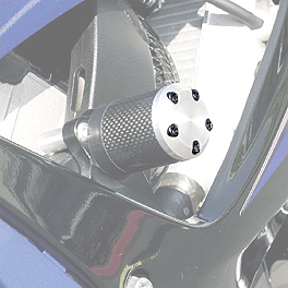 Shogun Motorsports Carbon S5 Frame Slider End Cap Screws - 2004 Suzuki SV1000S Shogun Motorsports Swingarm Sliders - White