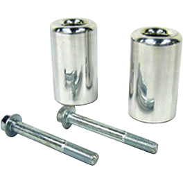 Shogun Motorsports Frame Sliders - Chrome Billet Aluminum - 2002 Suzuki GSX1300R - Hayabusa Shogun Motorsports Bar End Sliders - Polished