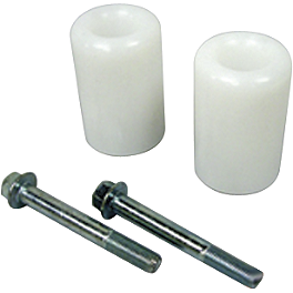 Shogun Motorsports No Cut Frame Sliders - White - 2000 Suzuki SV650 Shogun Motorsports Swingarm Sliders - Black