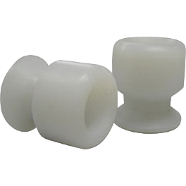 Shogun Motorsports Swingarm Sliders - White - Shogun Motorsports No Cut Frame Sliders - White