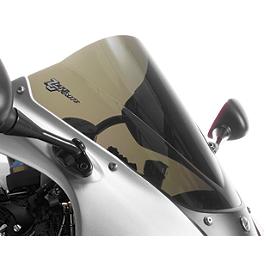 Zero Gravity Double Bubble Windscreen - 2000 Honda CBR1100XX - Blackbird Puig Racing Windscreen - Smoke