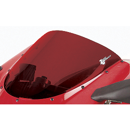 Zero Gravity SR Series Windscreen - 2001 Suzuki GSX-R 1000 Yana Shiki LRC Mirror Block Off Caps - Chrome
