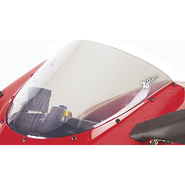 Zero Gravity SR Series Windscreen - 2003 Suzuki GSX1300R - Hayabusa Yana Shiki LRC Mirror Block Off Caps - Chrome