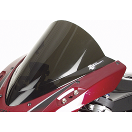 Zero Gravity SR Series Windscreen - 2000 Kawasaki ZX1200 - Ninja ZX-12R Yana Shiki LRC Mirror Block Off Caps - Chrome