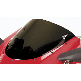 Zero Gravity SR Series Windscreen - 2001 Honda CBR929RR Yana Shiki LRC Mirror Block Off Caps - Chrome