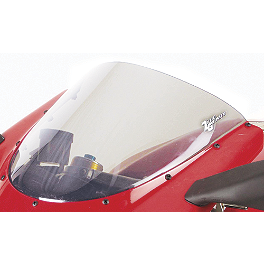 Zero Gravity SR Series Windscreen - 2006 Yamaha YZF - R6S Yana Shiki LRC Mirror Block Off Caps - Chrome
