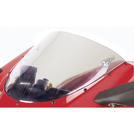 Zero Gravity SR Series Windscreen - 2008 Suzuki GSX1300R - Hayabusa Yana Shiki LRC Mirror Block Off Caps - Chrome