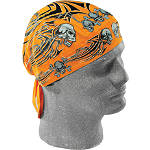 Orange Tribal Skull