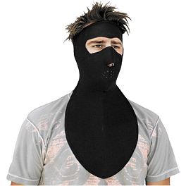 Zan Headgear Neoprene Full Face Mask With Neck Shield - Zan Headgear Neoprene Full Face Mask With Fleece Neck Shield