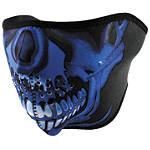 Blue Chrome Skull