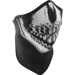 Zan Headgear Neo-X Half Face Mask With Neck Shield - Zan Headgear Neodanna - Skull