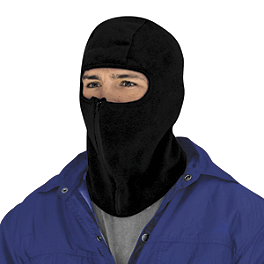 Zan Headgear Microfleece Zip Balaclava - Zan Headgear Fleece Neck Warmer