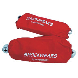Shockwears Front & Rear Shock Cover Set - 1986 Honda TRX250R Outerwears Pre-Filter For K&N, Black