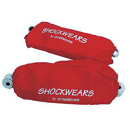 Shockwears Front Shock Covers - 2003 Suzuki LTZ400 Outerwears Pre-Filter For K&N, Black