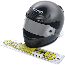 Shoei CWF-1 Pinlock Shield Tearoffs - Militant Moto F22 Supersport Windscreen - Clear