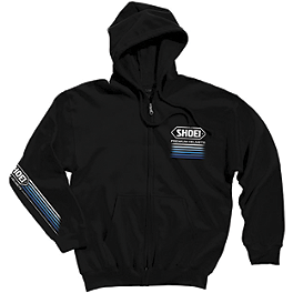 Shoei Speed Zip Hoody - JT Racing Red / Blue Logo Hoody