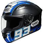Shoei X-12 Helmet - Montmelo Marquez - Shoei Full Face Motorcycle Helmets