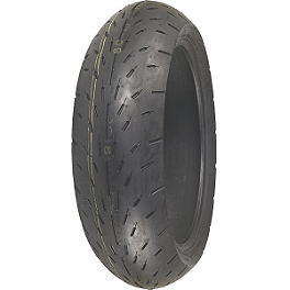Shinko 003 Stealth Rear Tire - 160/60ZR17 - Shinko 005 Advance Front Tire - 120/70-21V