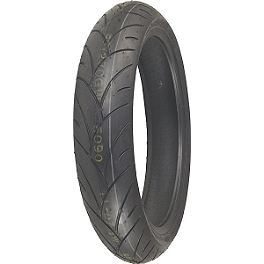 Shinko 005 Advance Front Tire - 120/70-21V - Continental Race Attack Custom Radial Front Tire - 120/70-21