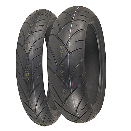 Shinko 005 Advance Tire Combo - Shinko 010 Apex Rear Tire - 180/55ZR17