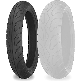 Shinko 006 Podium Front Tire - 120/70ZR17 - Shinko 777 Whitewall Tire Combo