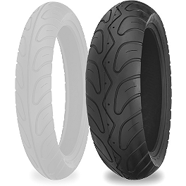 Shinko 006 Podium Rear Tire - 180/55ZR17 - Shinko 250 Front Tire - MT90-16 Whitewall