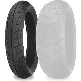 Shinko 009 Raven Front Tire - 120/70ZR17 - Shinko 009 Raven Rear Tire - 180/55ZR17
