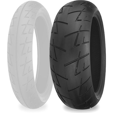 Shinko 009 Raven Rear Tire - 180/55ZR17 - Main