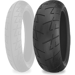 Shinko 009 Raven Rear Tire - 200/50ZR17 - Shinko 005 Advance Front Tire - 120/60ZR17