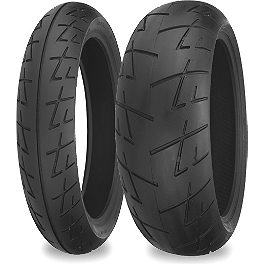 Shinko 009 Raven Tire Combo - Shinko SR568 Rear Tire - 130/70-12
