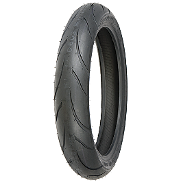 Shinko 011 Verge Front Tire - 120/70ZR17 - Keiti Tank Protector - British Flag