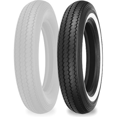 Shinko Classic 240 Front/Rear Tire - MT90-16 Whitewall - Main