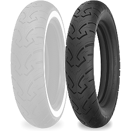 Shinko 250 Rear Tire - MT90-16 - Dunlop Tube MT/Mu90-16 Offset Metal Stem