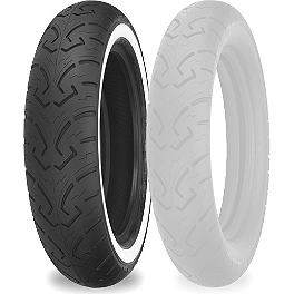Shinko 250 Rear Tire - MT90-16 Whitewall - Shinko 250 Front Tire - MT90-16 Whitewall