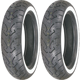 Shinko 250 Whitewall Tire Combo - Shinko 777 Rear Tire - 130/90-16 Whitewall