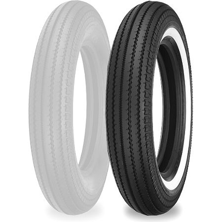 Shinko Super Classic 270 Front/Rear Tire - 5.00-16 Whitewall - Main