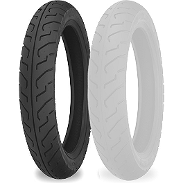 Shinko 712 Front Tire - 120/80-16 - Shinko 777 Whitewall Tire Combo